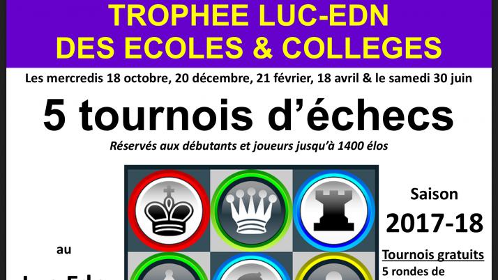 Trophée LUC Echiquier Du Nord des Ecoles & Collèges 2018