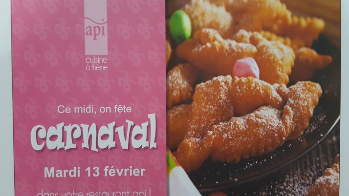 Mardi gras se prépare aussi à la cantine ! API