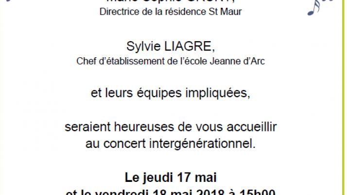 Concert du 17 et 18 mai à Saint Maur. Les informations pratriques